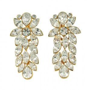 Crystal Rhinestone Earring By Napier