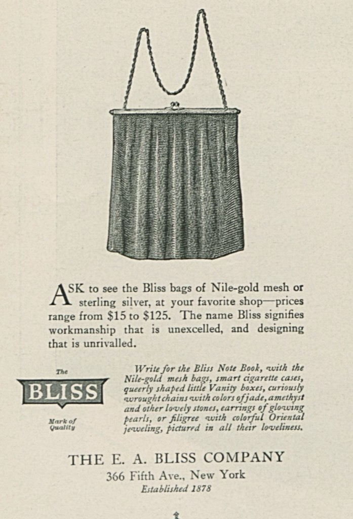 1919 Bliss Advertisement in Vogue